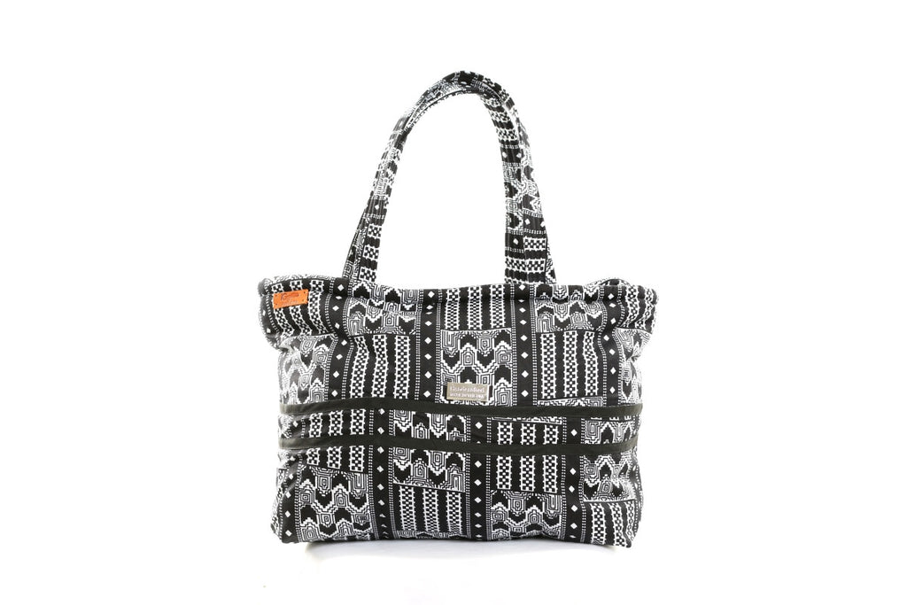 Black/White Patterned African Print Tote