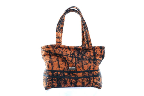 Orange/Black African Print Tote