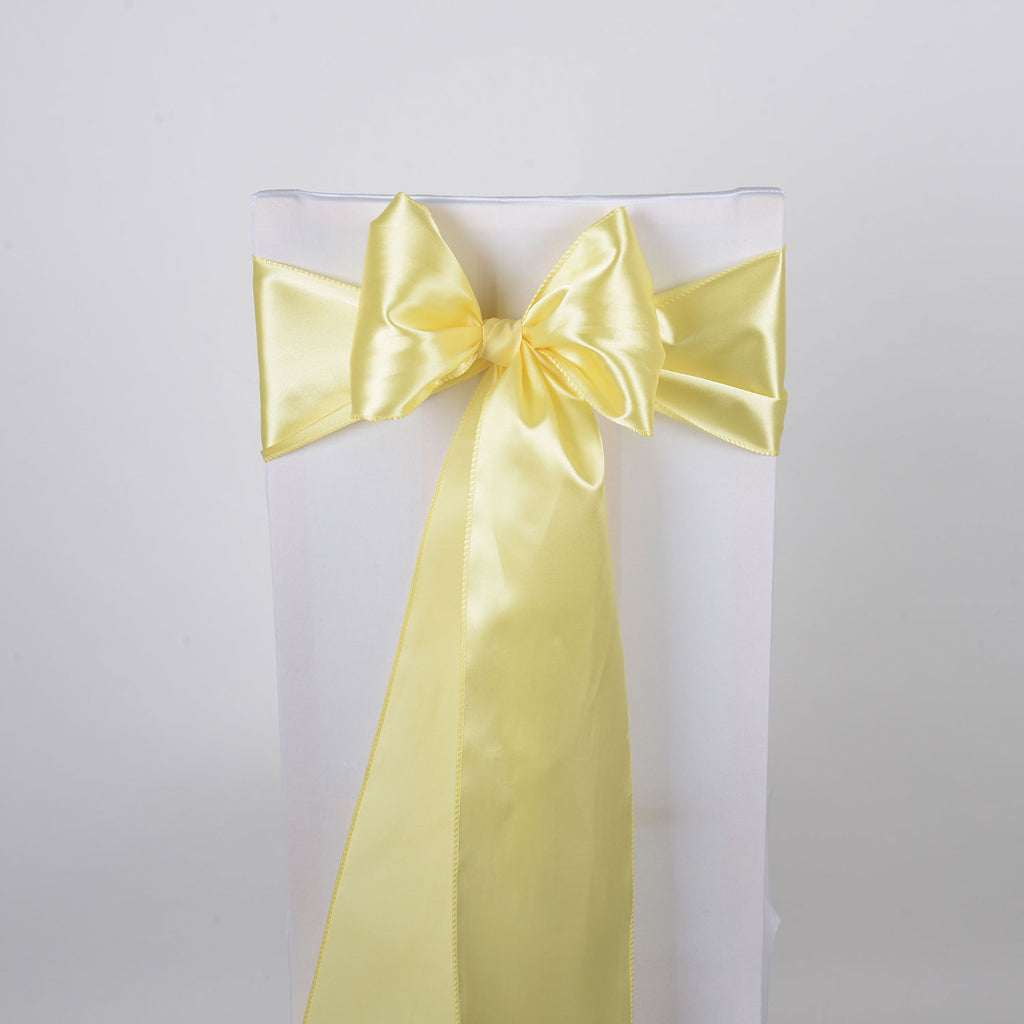 Baby Maize SATIN Chair Sash 10 Pieces
