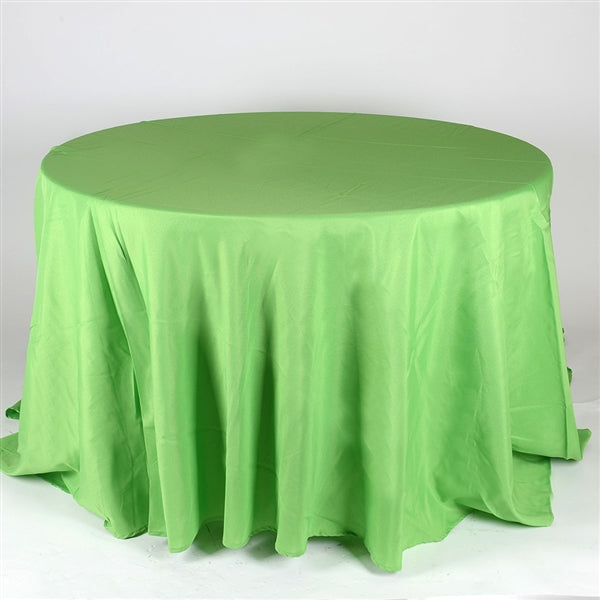 APPLE GREEN 108 Inch POLYESTER ROUND TABLECLOTHS
