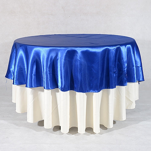 ROYAL BLUE 108 Inch ROUND SATIN TABLECLOTHS