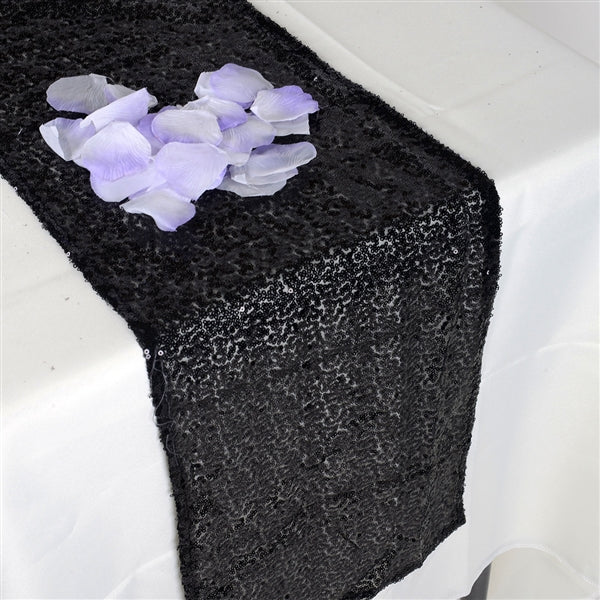 BLACK Duchess SEQUIN Table Runner