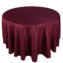 "132"" Round Polyester Tablecloths"