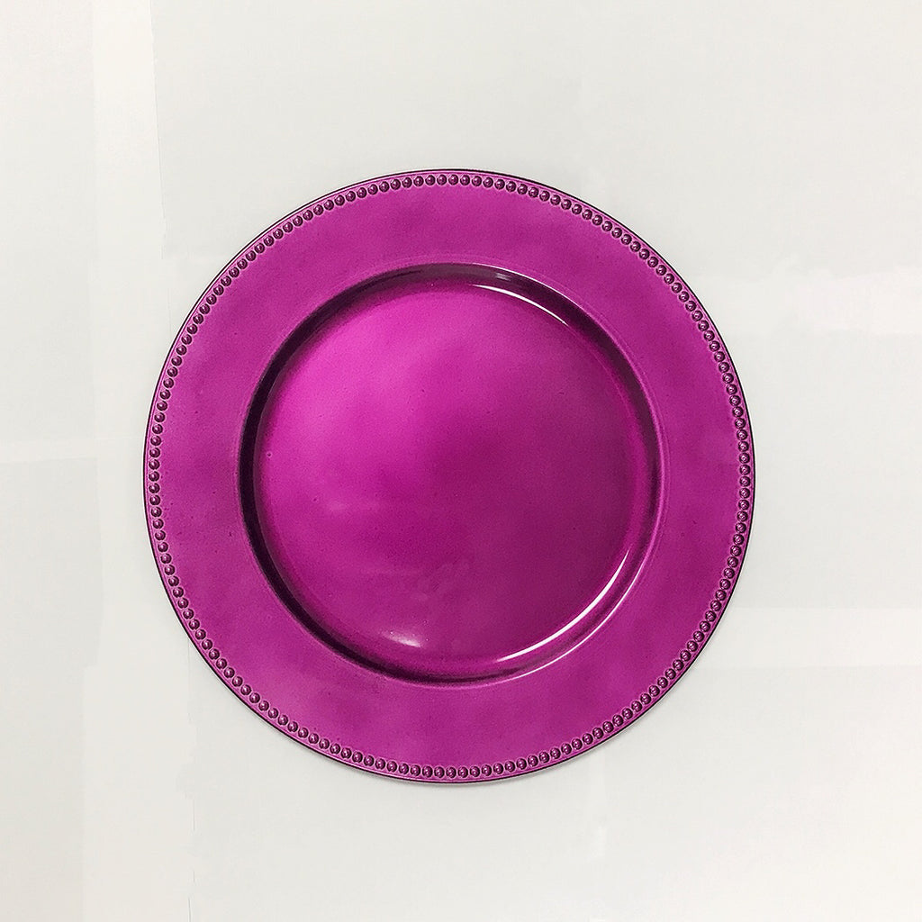 13'' Violet Round Charger Plates - Pack of 6