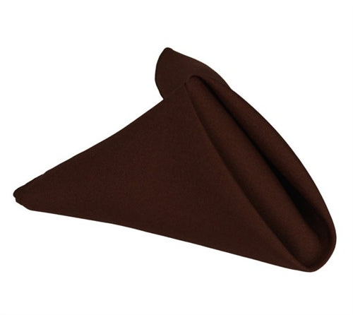 CHOCOLATE BROWN 20 x 20 POLYESTER Napkins - 5 Napkins