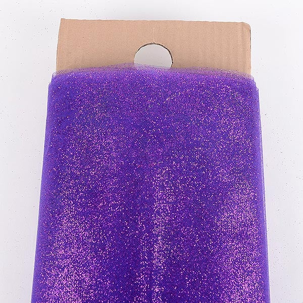 54 Inch PURPLE Glitter Tulle Bolt