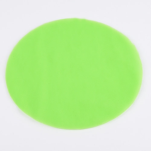 APPLE GREEN Pre Cut 9 Inch Premium Tulle Circles 25 Pieces