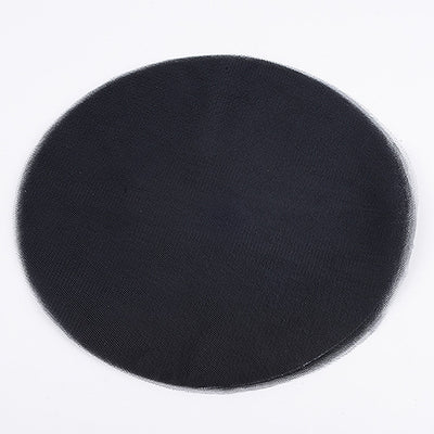 BLACK Pre Cut 9 Inch Premium Tulle Circles 25 Pieces