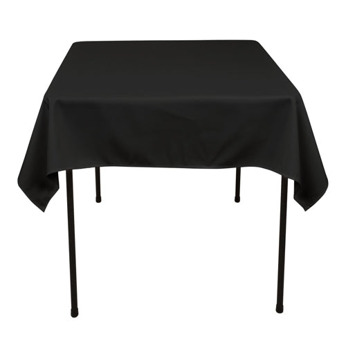 BLACK 52 x 52 Inch POLYESTER SQUARE Tablecloths
