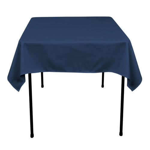 NAVY Blue 52 x 52 Inch POLYESTER SQUARE Tablecloths