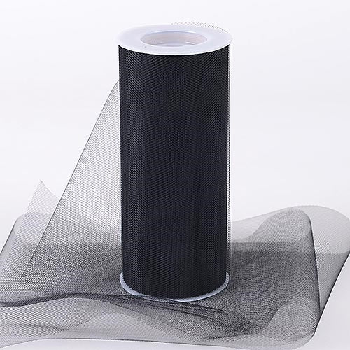 BLACK 12 Inch Tulle Roll 25 Yards