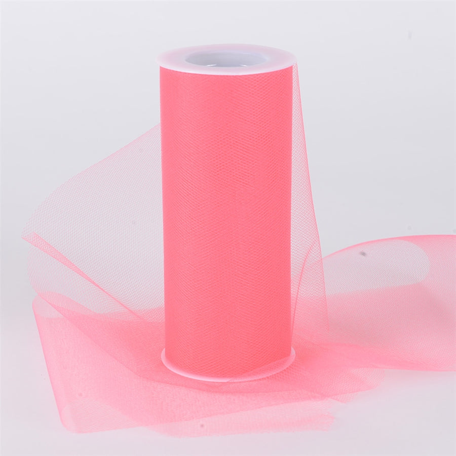 CORAL 12 Inch Tulle Roll 25 Yards
