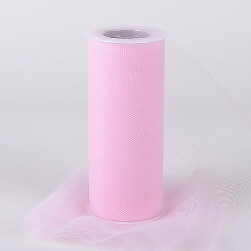 Light Pink 18 Inch Tulle Roll 25 Yards
