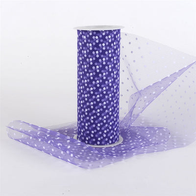 PURPLE Swiss Dot Nylon Tulle 6 inch x 10 yards