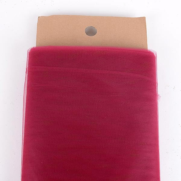 BURGUNDY 54 Inch Tulle Bolt x 40 Yards