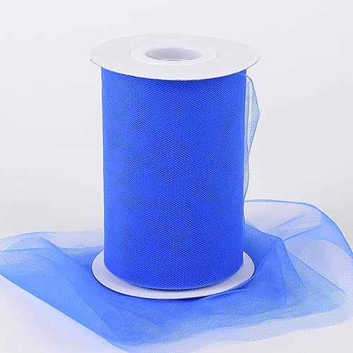 ROYAL BLUE 6 Inch Tulle Roll 100 Yards
