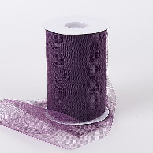 Eggplant 6 Inch Tulle Roll 100 Yards
