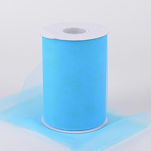 TURQUOISE 6 Inch Tulle Roll 100 Yards