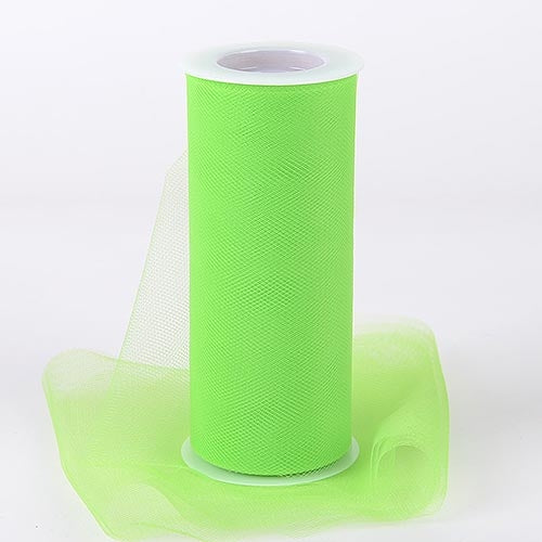 APPLE GREEN 6 Inch Tulle Roll 25 Yards