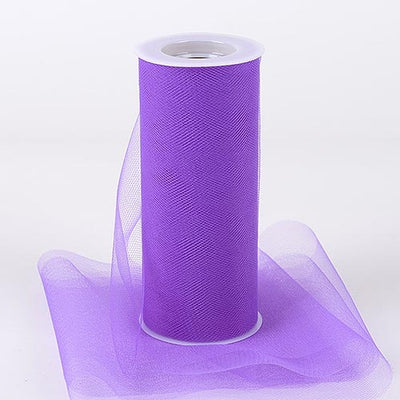 PURPLE 6 Inch Tulle Roll 25 Yards