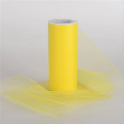 Yellow 6 Inch Tulle Roll 25 Yards