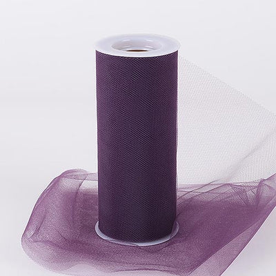 Eggplant 6 Inch Tulle Roll 25 Yards