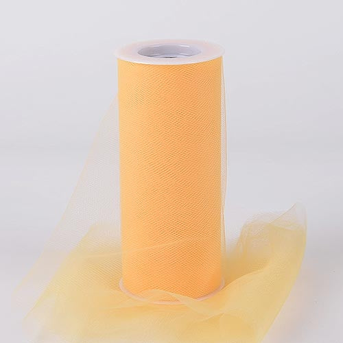 Light GOLD 6 Inch Tulle Roll 25 Yards