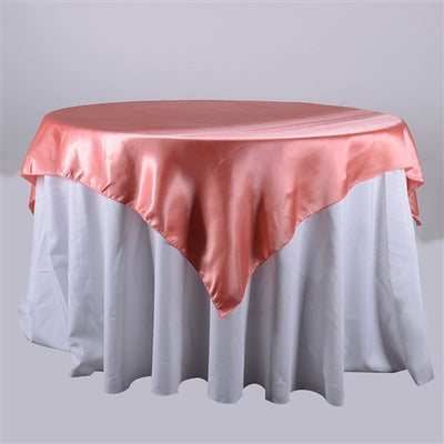 CORAL 72 x 72 Inch SQUARE SATIN Overlays