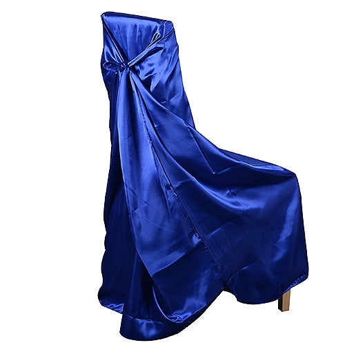 Incredible Universal Satin Chair Cover Royal Blue Caraccident5 Cool Chair Designs And Ideas Caraccident5Info