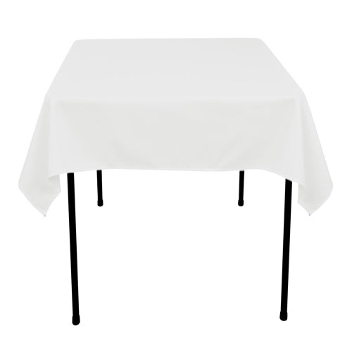 WHITE 85 x 85 Inch POLYESTER SQUARE Tablecloths
