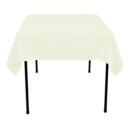 IVORY 85 x 85 Inch POLYESTER SQUARE Tablecloths