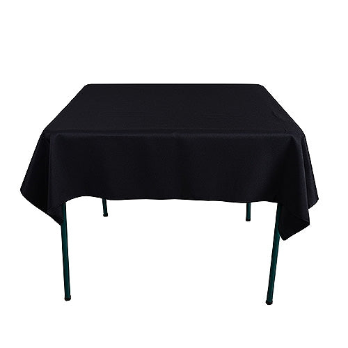 BLACK 85 x 85 Inch POLYESTER SQUARE Tablecloths
