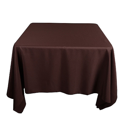 CHOCOLATE BROWN 85 x 85 Inch POLYESTER SQUARE Tablecloths