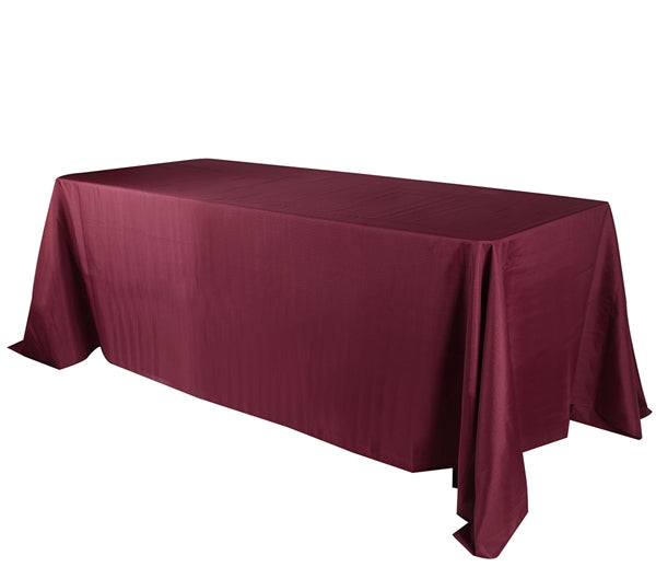 BURGUNDY 90 x 132 Inch POLYESTER RECTANGLE Tablecloths