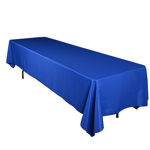 ROYAL BLUE 90 x 132 Inch POLYESTER RECTANGLE Tablecloths