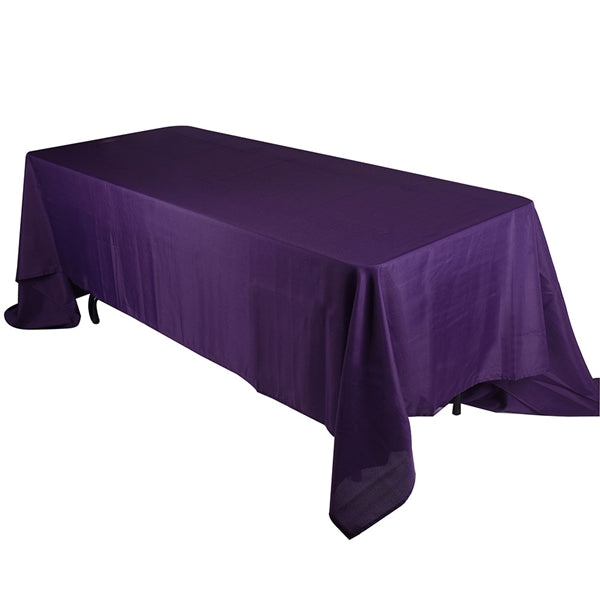 PLUM 90 x 132 Inch POLYESTER RECTANGLE Tablecloths
