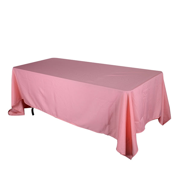 CORAL 90 x 132 Inch POLYESTER RECTANGLE Tablecloths
