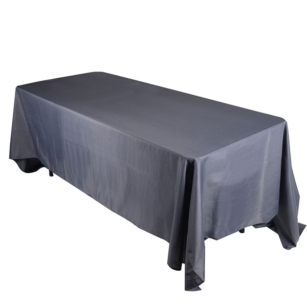 CHARCOAL 90 x 132 Inch POLYESTER RECTANGLE Tablecloths