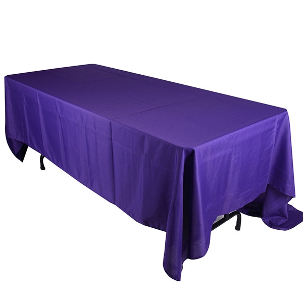 PURPLE 90 x 156 Inch POLYESTER RECTANGLE Tablecloths