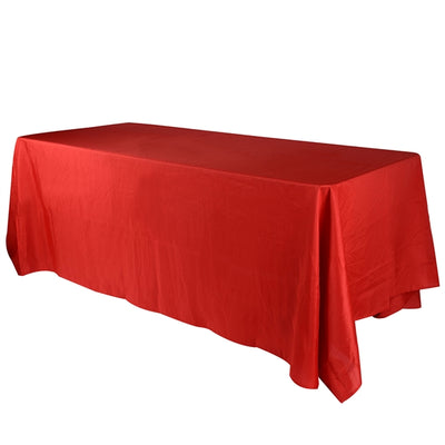 RED 90 x 156 Inch POLYESTER RECTANGLE Tablecloths
