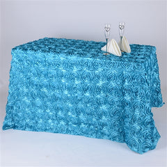 "90"" x 156"" Rectangular ROSETTE Tablecloths"