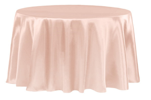 108 Inch Satin Round Tablecloths - ( 108 inch | Round )