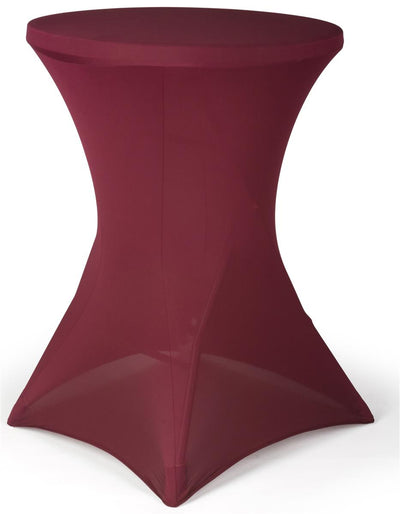 BURGUNDY Spandex Cocktail Tablecloths