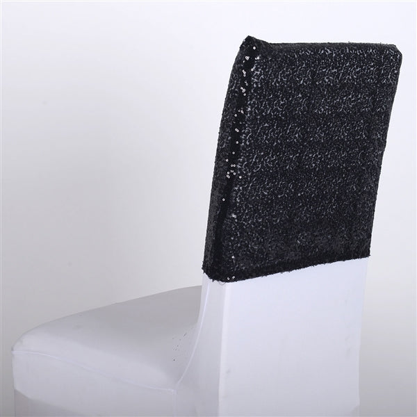 BLACK Duchess SEQUIN Chair Top Covers