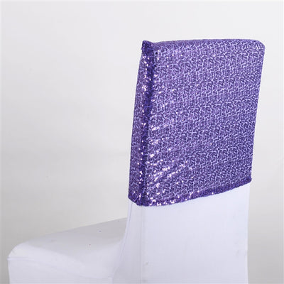 PURPLE Duchess SEQUIN Chair Top Covers