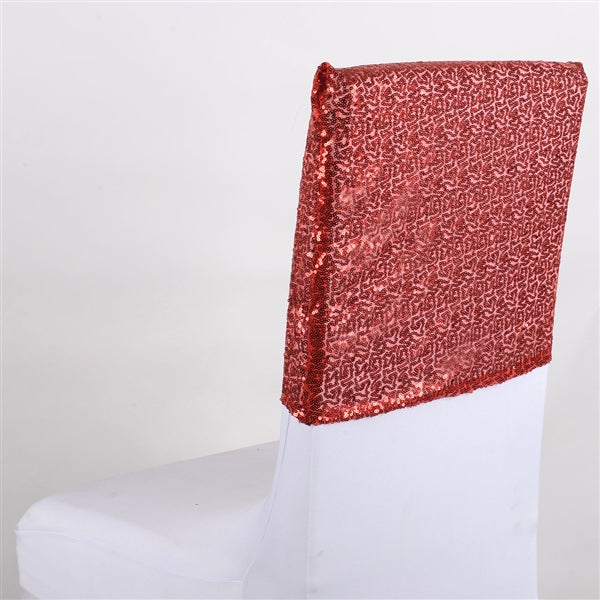 RED Duchess SEQUIN Chair Top Covers