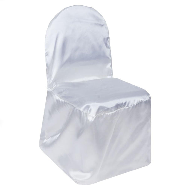 WHITE SATIN Banquet Chair Cover