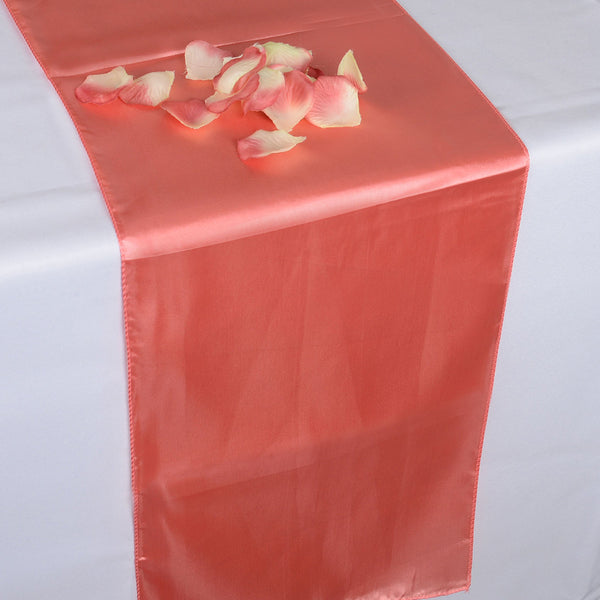 CORAL SATIN Table Runner  - ( 12 inch x 108 inches )