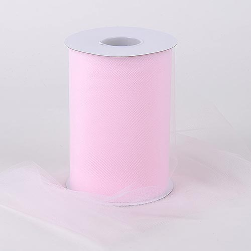 LIGHT PINK Premium Quality Nylon 6 Inch Tulle Roll 100 Yards