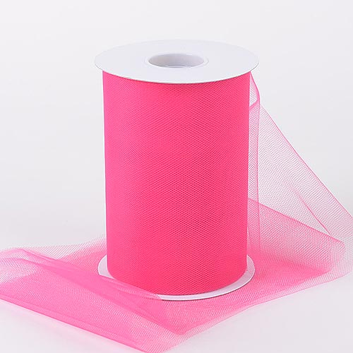 FUCHSIA Premium Quality Nylon 6 Inch Tulle Roll 100 Yards